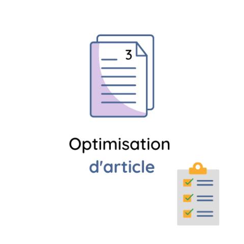 Optimisation de l'article
